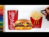 Speed Drawing: McDonald's menu [Time lapse]