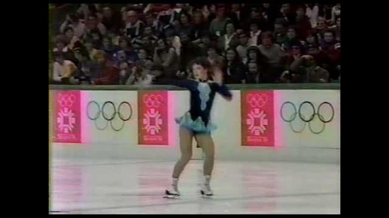 Kira Ivanova (URS) - 1984 Sarajevo, Figure Skating, Ladies' Long Program