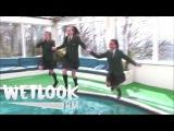 WETLOOK 1: Girls swimming in school uniforms