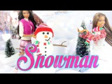 Как сделать снеговика для кукол How to Make a Doll Snowman EASY -  Doll Crafts