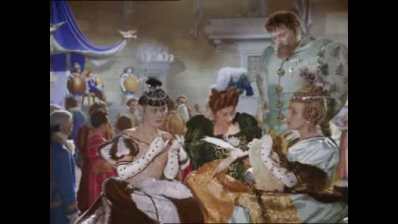 Cinderella (Russian film, 1947) Ranevskaya plays stepmother Золушка / Раневская