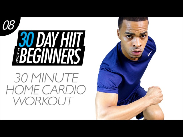 30 Min. At Home Cardio Workout with No Equipment for Beginners | Beginner HIIT 08