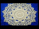 МК салфетка Эмили 24-25 ряды How to crochet doily Emily24-25 rows