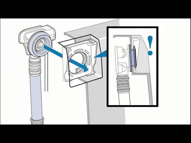 Установка системы слива перелива для акриловой ванны Villeroy Boch Squaro Edge 12