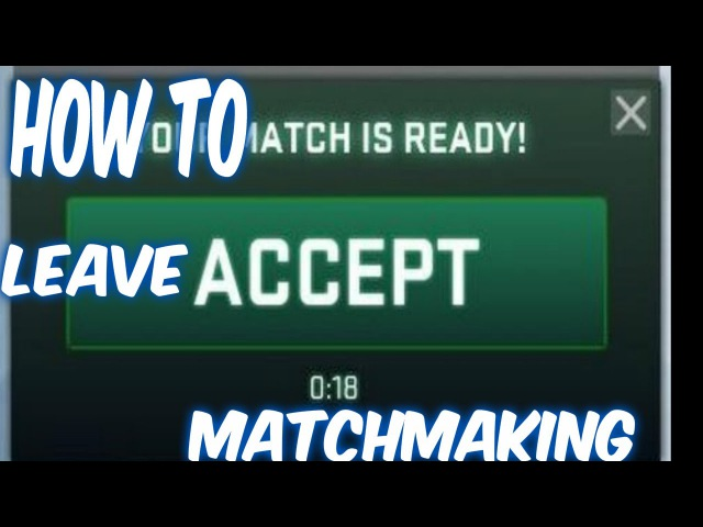 HOW TO LEAVE MATCHMAKING WITHOUT BAN by Oczosinko