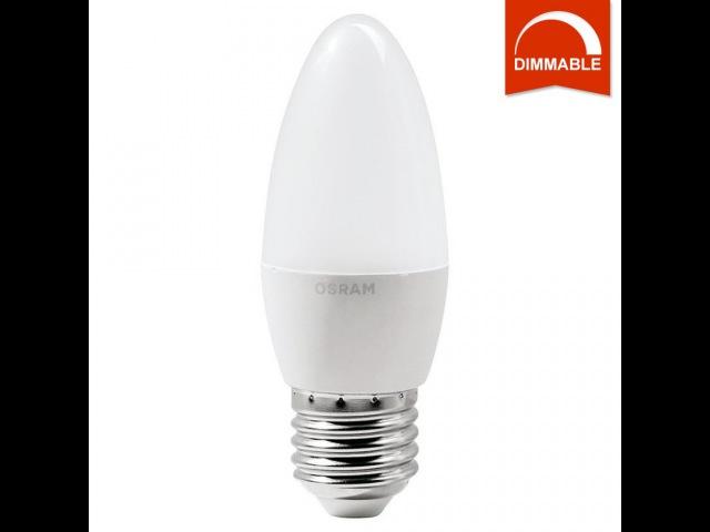 LED лампа OSRAM SUPERSTAR CLB 40 5.4W E27, теплый белый, диммируемая, матовая, светодиодная