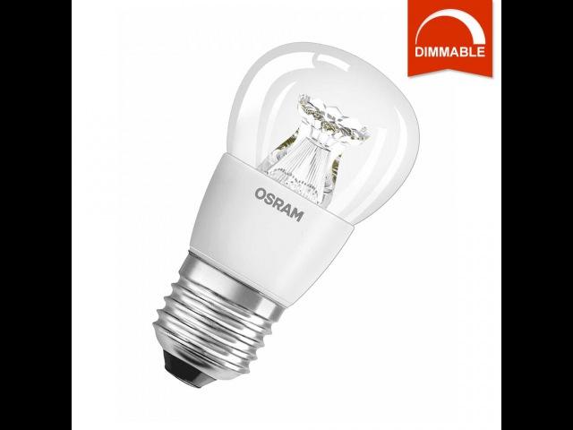 LED лампа OSRAM SUPERSTAR P40 E27 6W 2700K, диммируемая, прозрачная, светодиодная