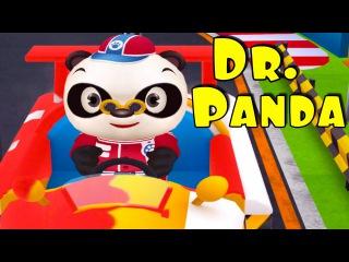 Автогонки Доктора Панды - Развивающие Мультфильмы про машинки. Racing Dr Panda's
