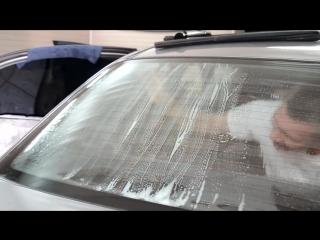Тонировка заднего стекла автомобиля своими руками. Видео инструкция