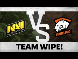 WATCH FIRST: Team wipe! by Na`Vi vs VP @ ESL One Frankfurt 2016 EU