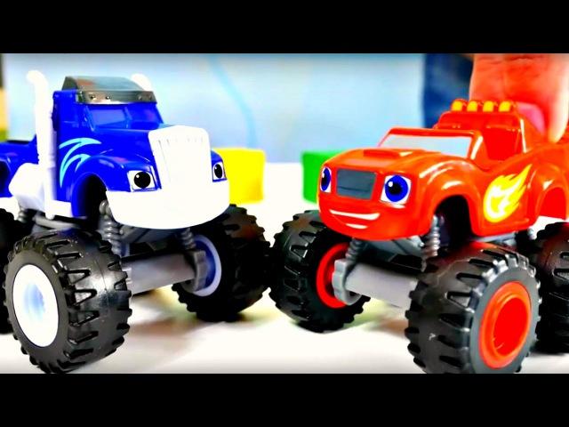 Vidéo de voitures de course Blaze les MonsterMachines en français pour enfants: Jeu au cache-cache