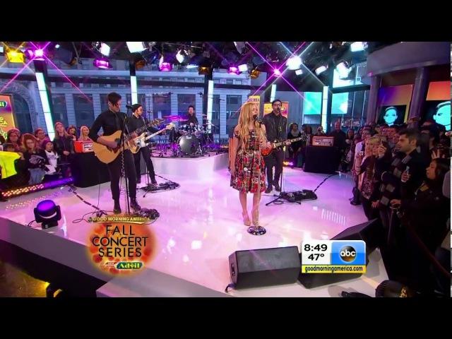 Avril Lavigne Girlfriend Sk8er Boi Live @ Good Morning America 05 11 2013
