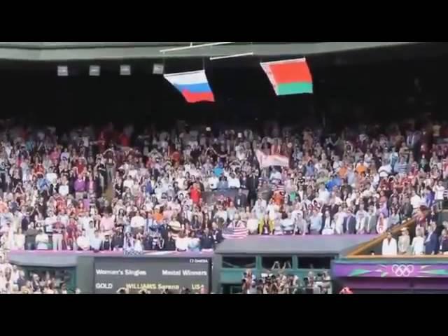 Американский флаг не выдержал гимн России!