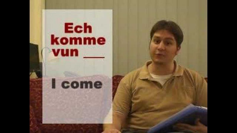 Luxembourgish Lesson 2