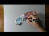 Как реалистично нарисовать тюбик зубной пасты