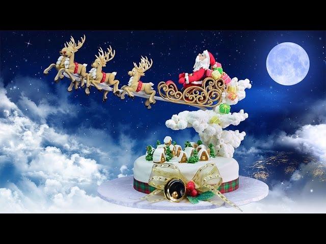 Santas in Town Christmas Cake Tutorial - Introduction