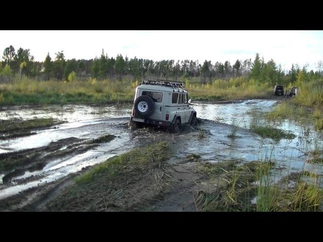 УАЗ vs Lexus LX470 vs Land Cruiser 200 vs Hummer H3 vs Hilux Surf. Танковая дорога. Жесть