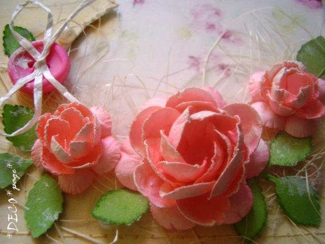Мастер класс цветы из бумаги. Скрапбукинг, ч.3