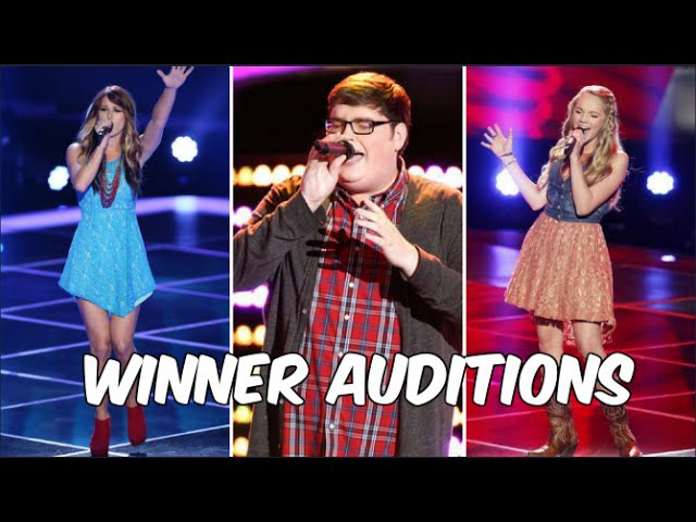 ALL WINNERS Auditions Seasons 1-10   The Voice USA