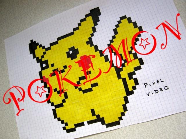 РИСУНКИ ПО КЛЕТОЧКАМ ПИКАЧУ ПОКЕМОНЫ ( Handmade Pixel Art Pokemon GO Pikachu )