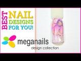 Нежный дизайн гель-лаками. Дизайн ногтей с цветком