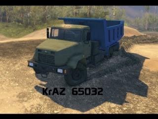 Spin Tires - Dev Demo - KrAZ  65032 6х6