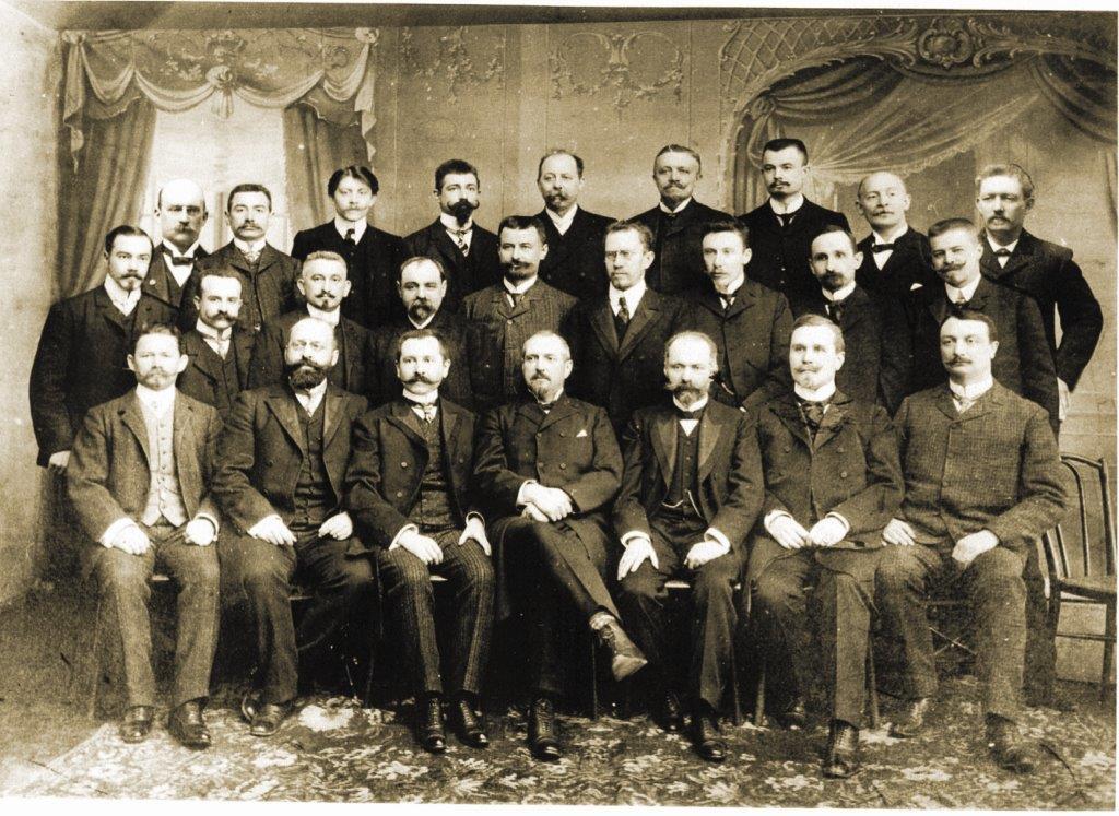 Группа бельгийцев - основателей завода «Красный котельщик»