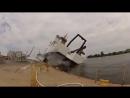 Неудачный спуск судна на воду!
