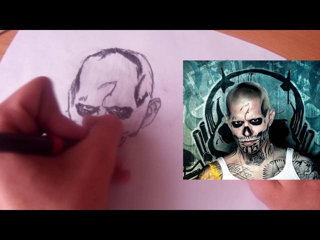 Рисунок карандашом Эль Диабло El Diablo Отряд Самоубийц Suicide Squad