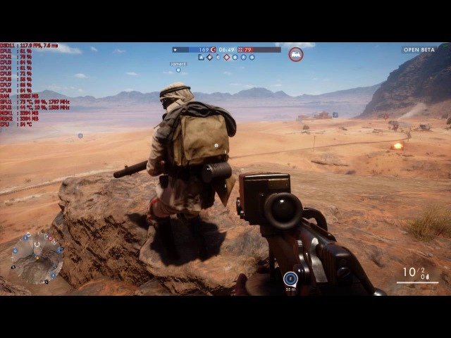 Battlefield 1 [i7 4770k@4.2Ghz 1070 GTX F.E. (SLI OFF)]