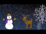 Снежинки спускаются с неба. Красивое новогоднее видео для детей.