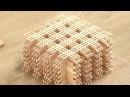 Как делают японские деревянные светильники