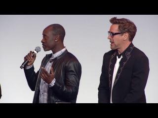 CAPTAIN AMERICA CIVIL WAR Paris Premiere Presentation - Robert Downey Jr, Emily VanCamp, Don Cheadle