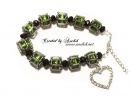 Tutorial Beaded bracelet Cat eyes / Как сделать Браслет из бисера и бусин
