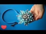 Новогодняя Снежинка Канзаши МК _ Christmas Snowflake kanzashi DIY