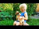 Очень милый домашний питомец щенок Стич пришел в гости к Марку Смешные животные Видео для детей
