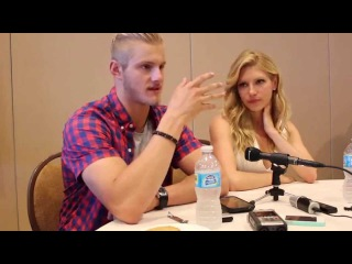 An Interview with 'Vikings' Stars Katheryn Winnick and Alexander Ludwig at SDCC