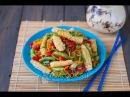 Стир фрай из кальмаров с овощами видео рецепт