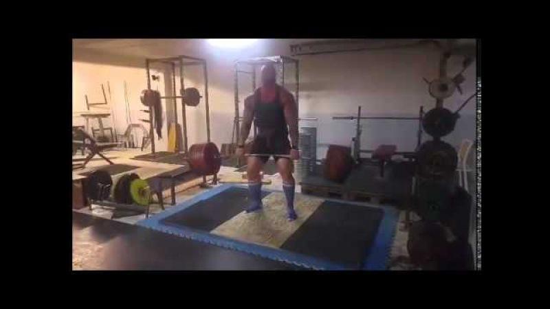 Хафтор Бьорнссон - Становая тяга 425 кг (Тренировка, февраль 2016)