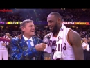 LeBron tells Sager how happy he is that Craig finally gets a Finals game, gets videobombed by Richard Jefferson