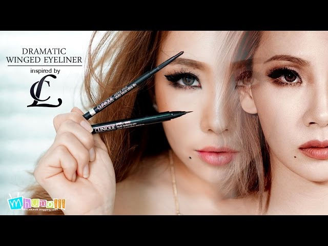 How To Dramatic Winged Eyeliner inspired by CL 2NE1 Review Clinique Makeup Fall 2015 Thai ไทย