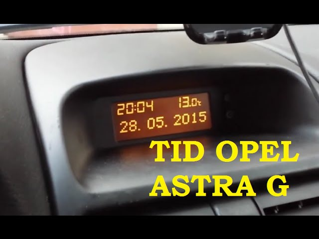 TID Opel Astra G - Wymiana żarówek Wyświetlacza r5 2W 12V x2 Replacement Poradnik PL