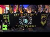 Во Львове прошло факельное шествие ко дню памяти командира УПА Романа Шухевича