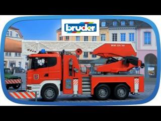 Брудер большая пожарная машина SCANIA R-series с лестницей М1:16 Bruder (03590)