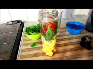 How to Make Drink With Ginger ,Spinach Honey ,Banana ,Mango Breakfast Recipe