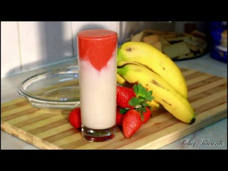How to Make Banana & Strawberries Drink Recipes