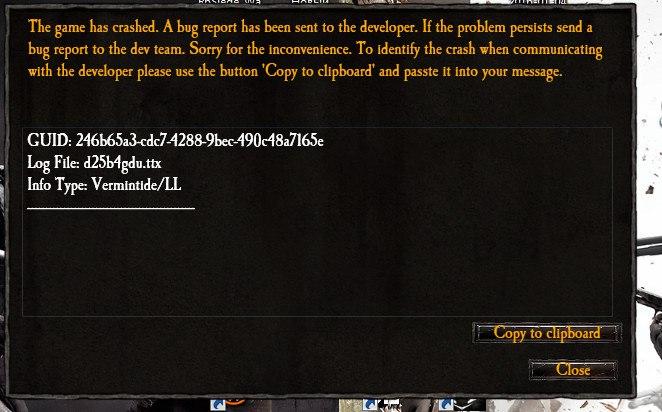 Ошибка Warhammer при запуске.