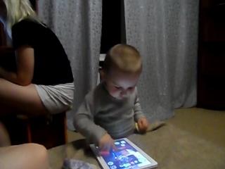 Игра в кота на планшете, мастер класс от Глеба;)