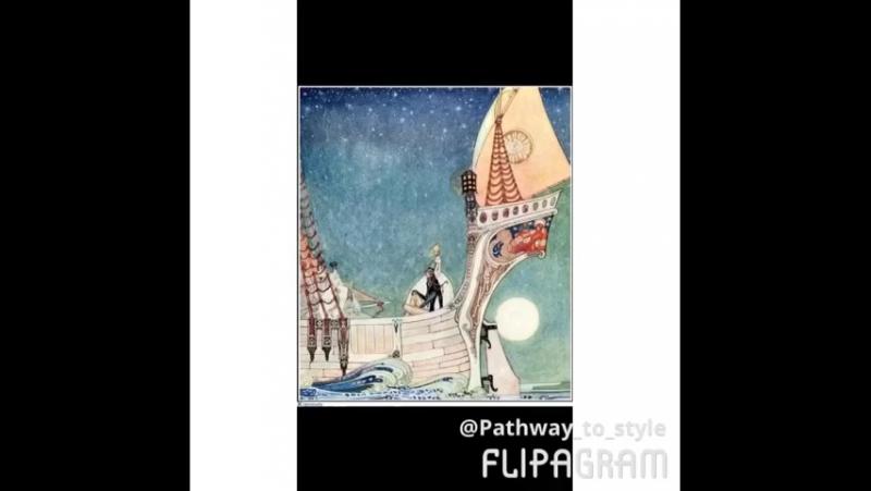 Иллюстрации К.Нильсена к книге сказок На восток от Солнца, на запад от Луны, послуживашие вдохновением для коллекции Fendi