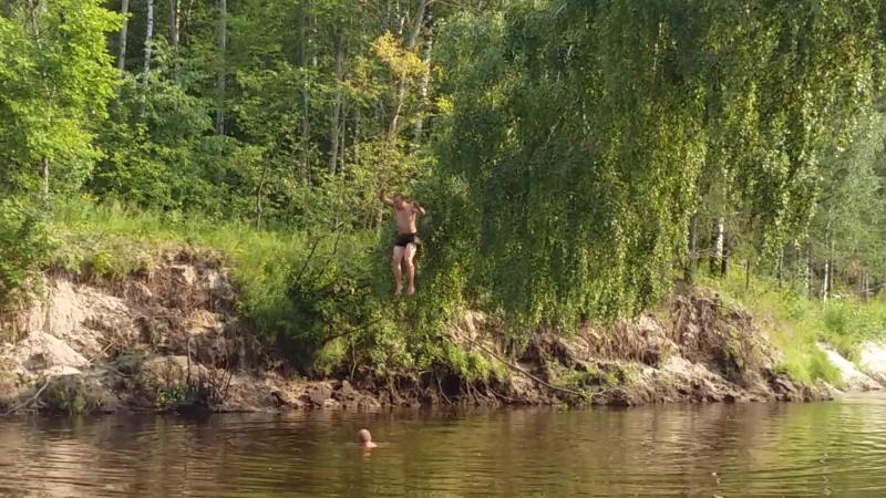 прыжок Сани Сереги и Дениса